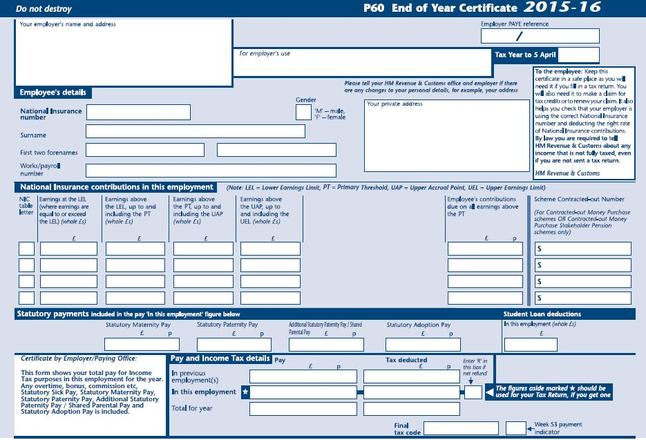 Sage P60 Forms | Stationery | Sage Store