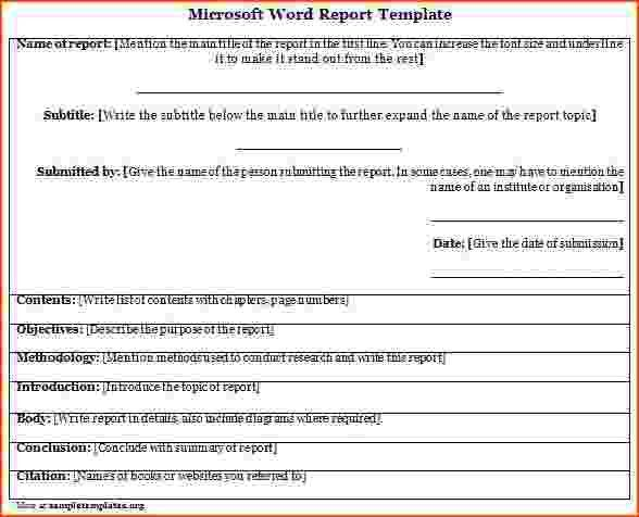 7+ microsoft word report templates - bookletemplate.org