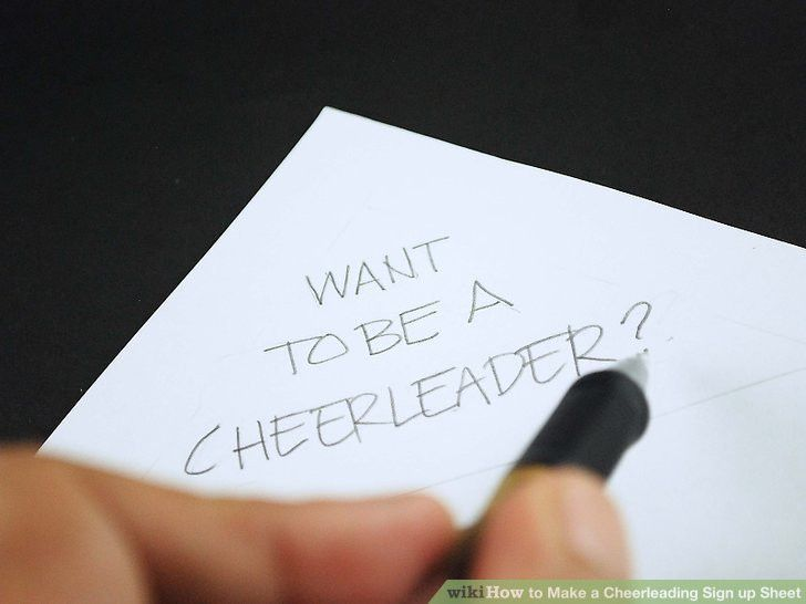 How to Make a Cheerleading Sign up Sheet: 10 Steps (with Pictures)