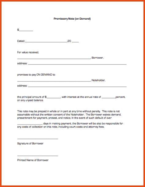 14 free promissory note template | Sponsorship letter