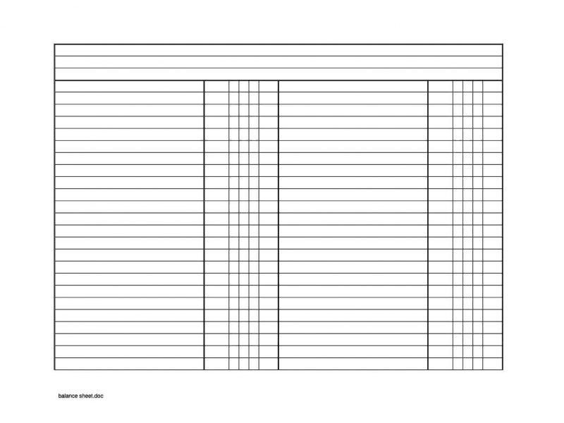 Blank Balance Sheet Template | TemplateZet