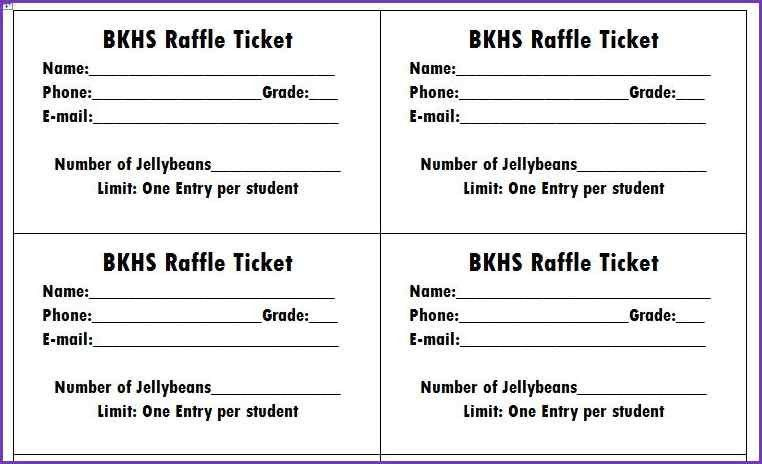 RAFFLE TICKET TEMPLATE FREE | Jobproposalideas.com