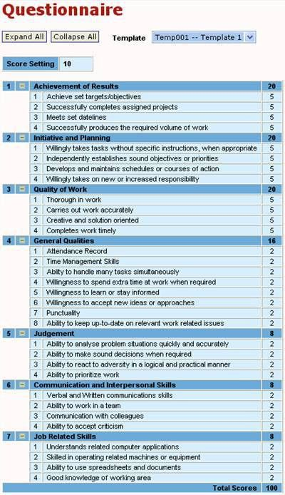 SPE - Staff Performance Evaluation for employee appraisal