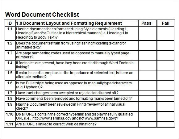 Sample Blank Checklist Template - 10+ Documents Download in PDF ...