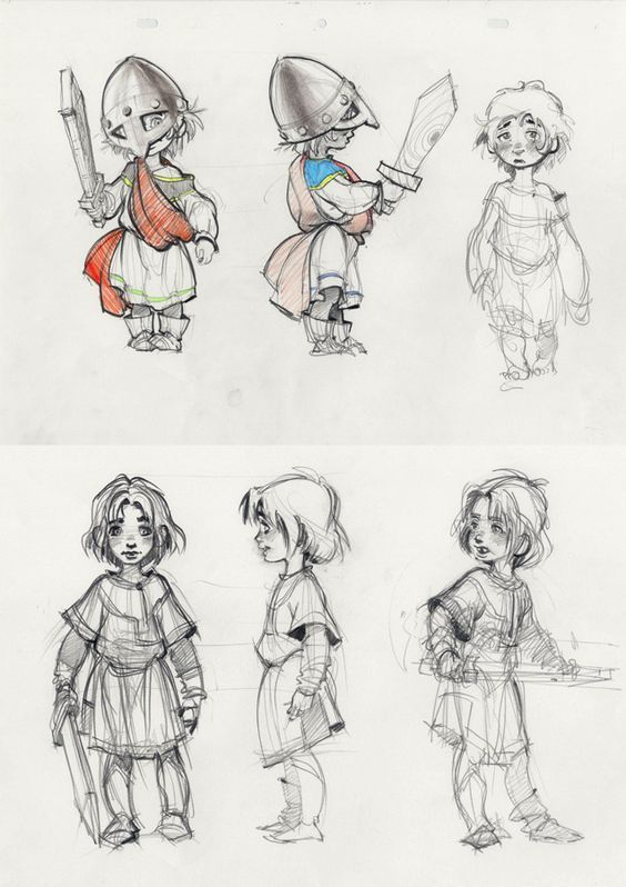Little warrior character sketch of boy by Andrei Riabovitchev ...