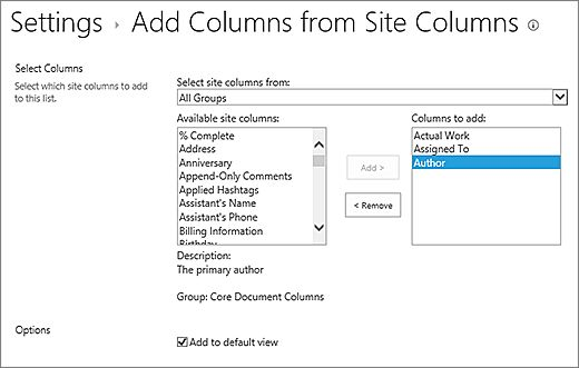 Create a column in a SharePoint list or library - SharePoint