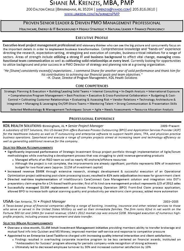 Senior Project Manager Resume | berathen.Com