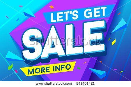 Lets Get Sale Banner Sale Discounts Stock Vector 541401421 ...