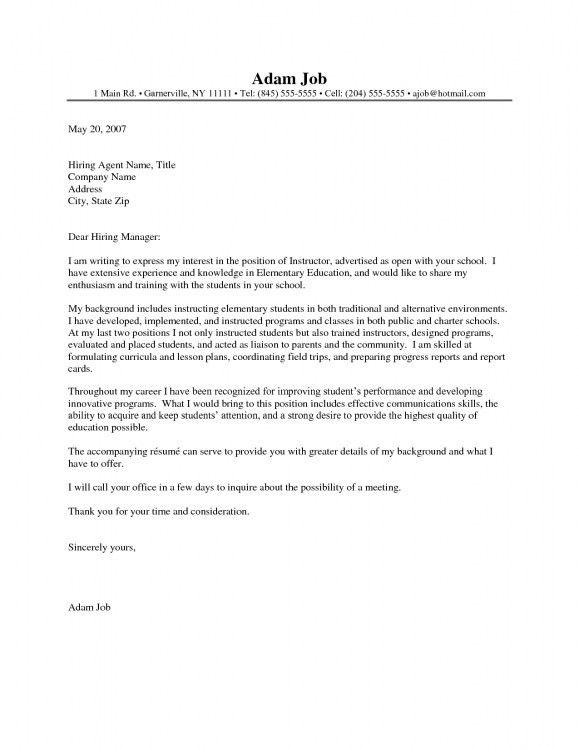 Cover Letter For Teacher Position 17 Cover So You Leaves ...