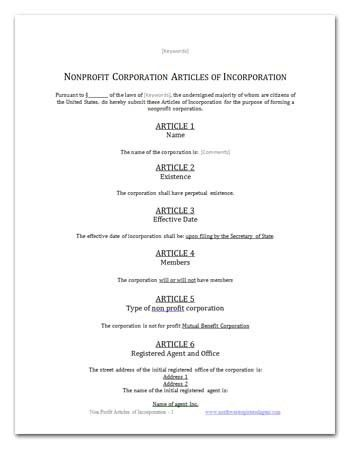 FREE CALIFORNIA MUTUAL BENEFIT ARTICLES OF INCORPORATION TEMPLATE