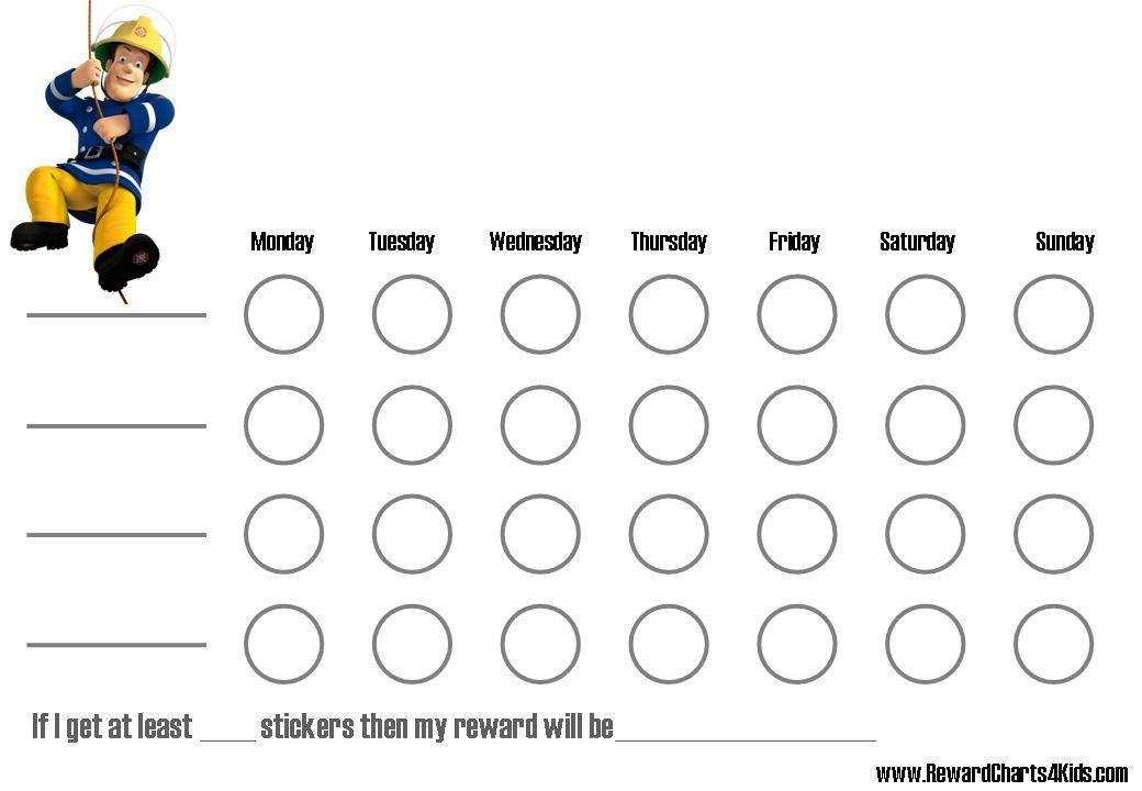 Sample Chart Templates » Reward Chart Template Word - Free Charts ...