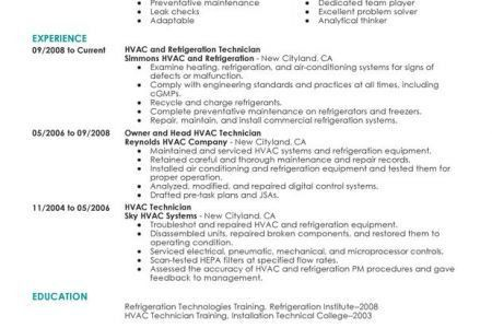 telecommunications technician resume objective vosvetenet hvac ...
