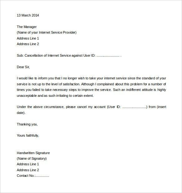 10+ Service Termination Letter Templates - Free Sample, Example ...