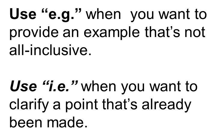 I.e. or E.g.? | Doug Hess | Pulse | LinkedIn
