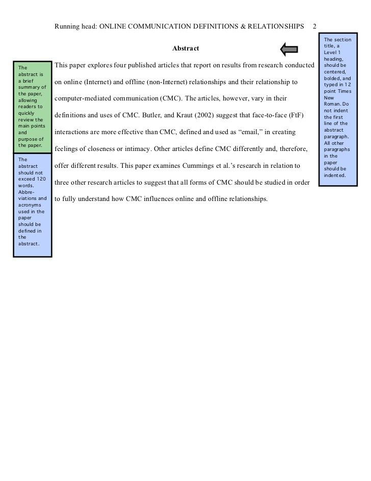 paper with table of contents abstract and three levels of section ...