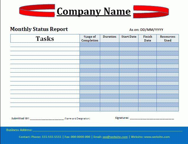 Status Report Template | cyberuse
