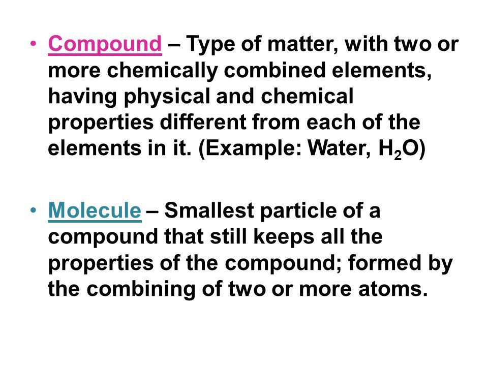 Elements Compounds Mixtures. - ppt video online download