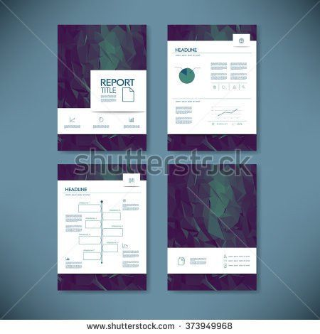 Business Annual Report Template Infographics Data Stock Vector ...