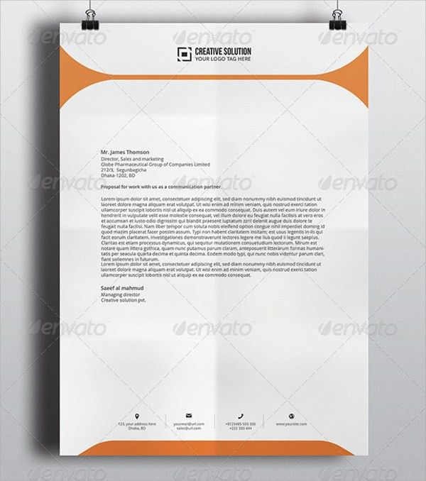 Company Letterhead Template. Business Letterhead Format, Business ...