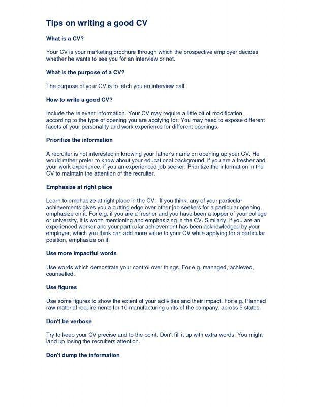 good summary for resume summary statement resume examples good ...