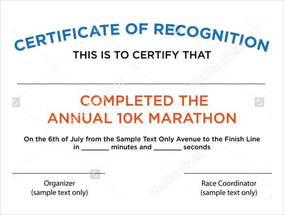 Sample Certificate of Recognition Template - 21+ Documents in PDF ...