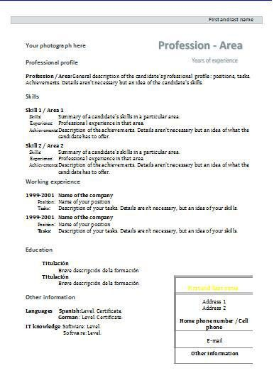 CV formats and templates | Resume templates