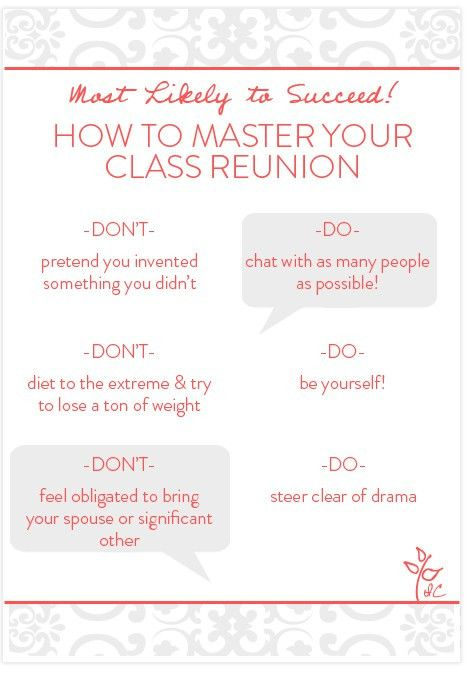 Class Reunion Do's and Dont's! - Invitation Consultants Blog ...