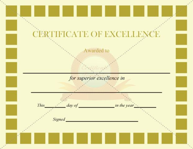46 best CERTIFICATE OF EXCELLENCE TEMPLATES images on Pinterest ...