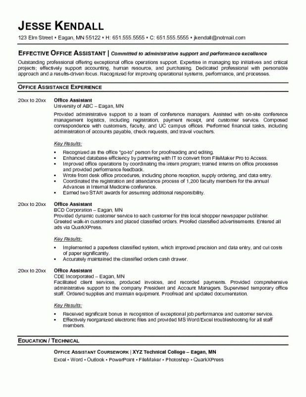 medical office resume sample administrative assistant