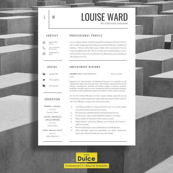20 best Professional Resume Templates images on Pinterest | Cover ...
