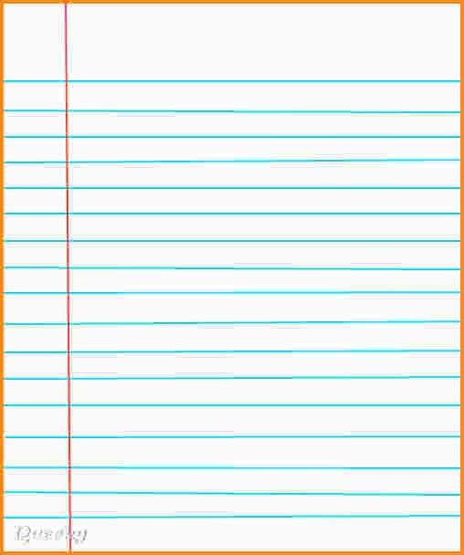 Lined Paper Microsoft Word Template [Template.billybullock.us ]