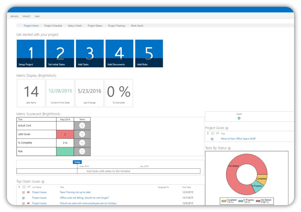 SharePoint Project Management Templates - BrightWork