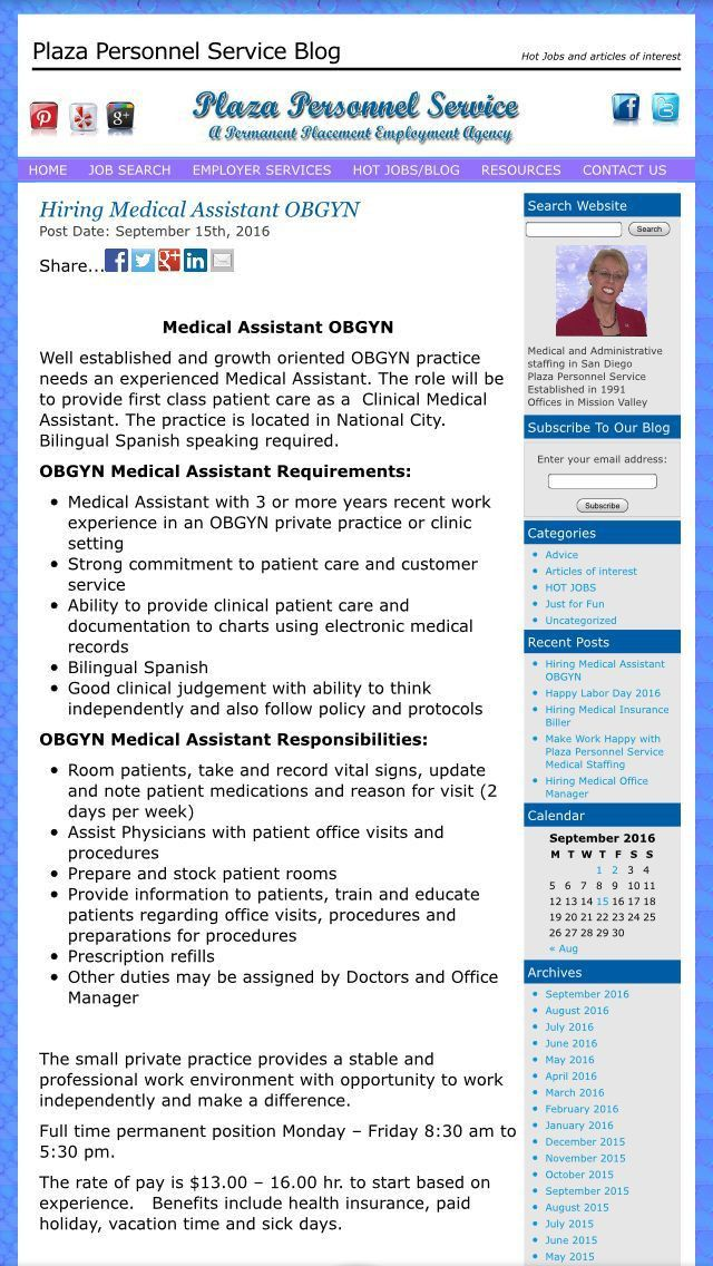 100 best Medical Assistant job opportunities in San Diego images ...