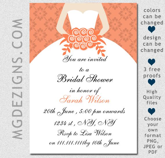 Printable Bridal Shower Invitations. Amazing Free Printable Bridal ...