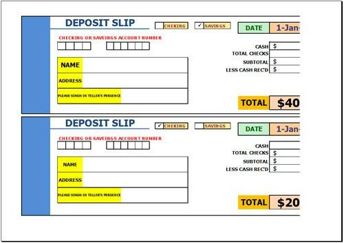 Free Direct Deposit Form Template for Excel 2007 - 2016