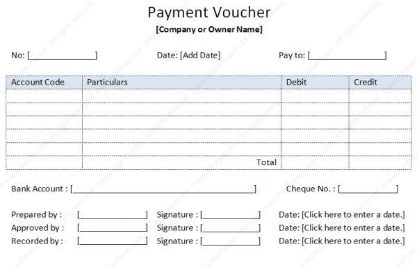 Payment Voucher Template | Soft - Templates