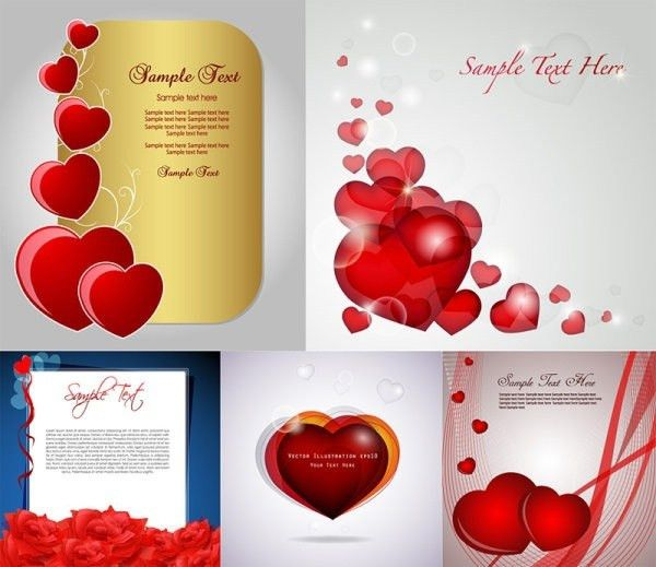 Romantic love birthday card free vector download (16,251 Free ...