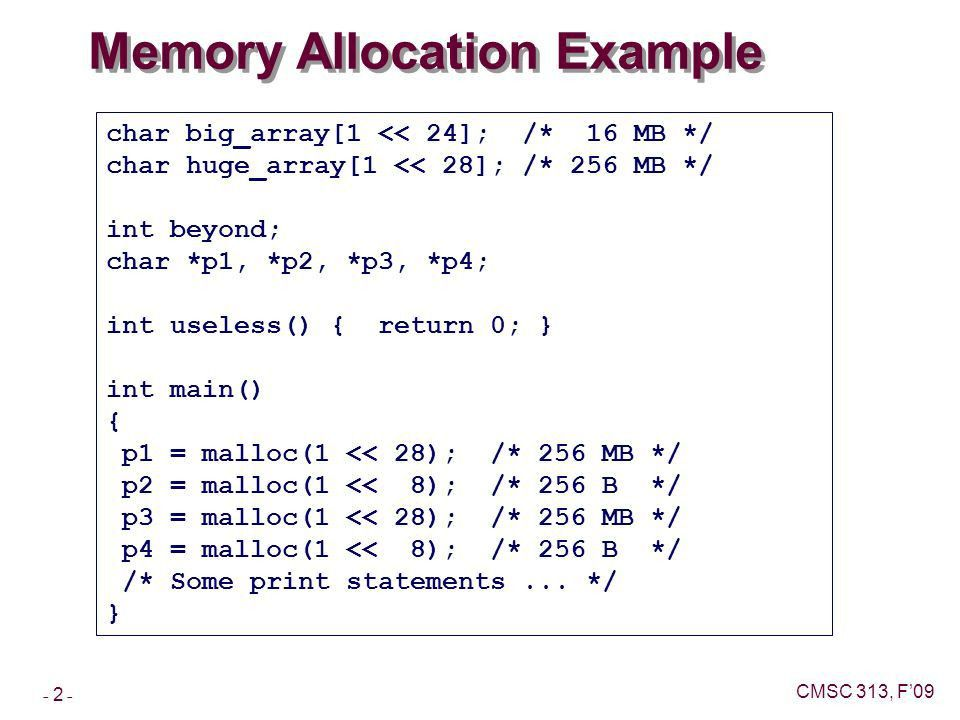 Machine-Level Programming Advanced Topics Topics Linux Memory ...