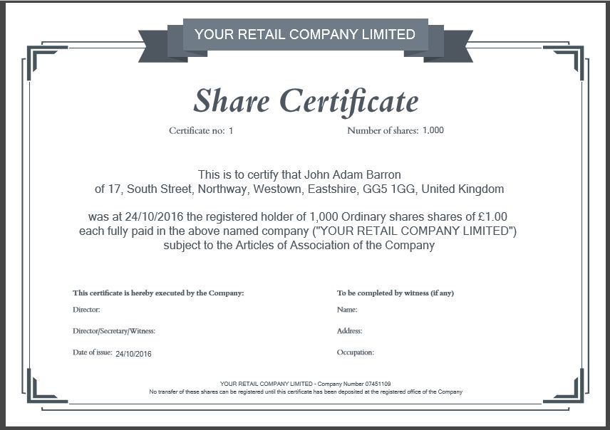 Share certificate template uk free share certificate template another inform direct product update october 2016 inform direct yadclub Images