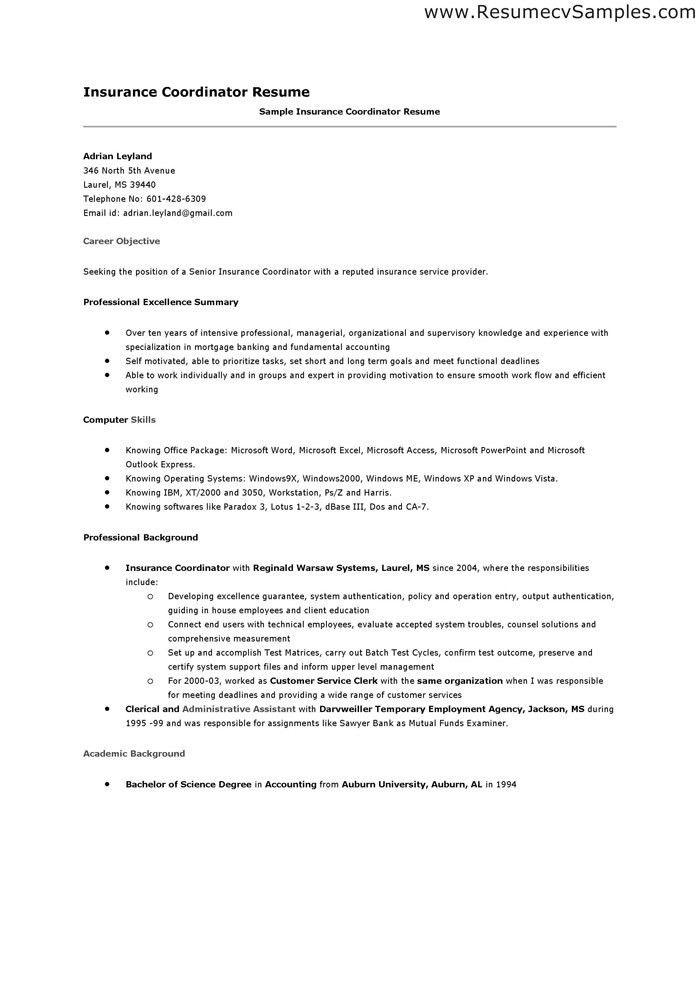 Resume Coordinator / Sales / Coordinator - Lewesmr