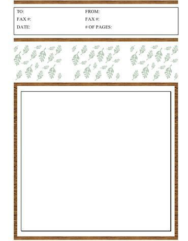 This printable fax cover sheet is perfect for fall, with a brown ...