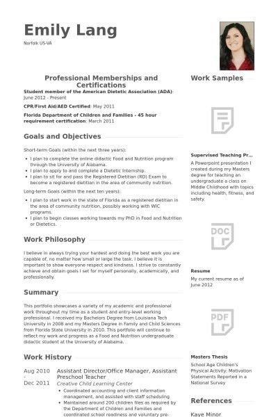 Assistant Preschool Teacher Resume - Best Resume Collection