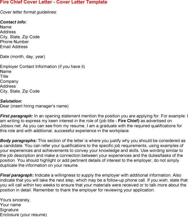 police chief resume cover letters