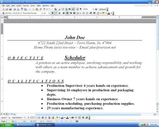 how to organize a resume