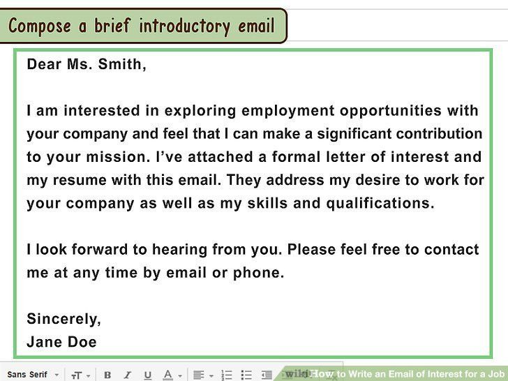 How to Write an Email of Interest for a Job: 13 Steps