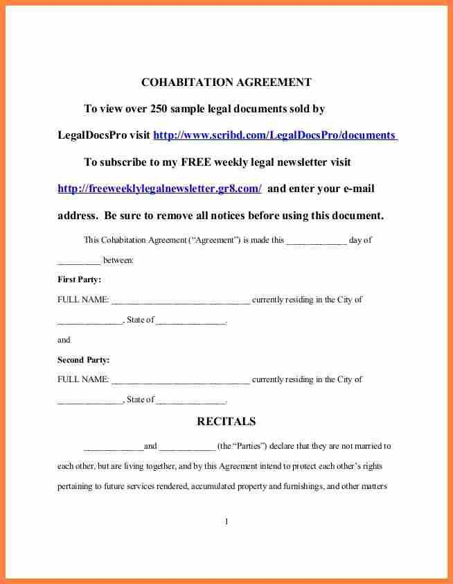 6+ common law separation agreement template | Purchase Agreement Group