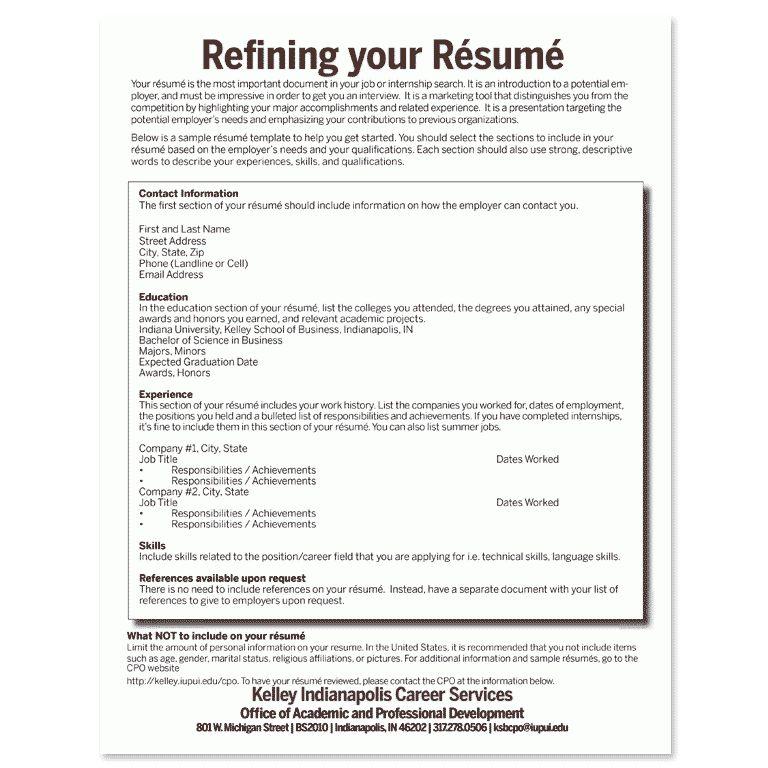 Build Your Résumé: Create Your Career Path: Student U0026 Alumni .