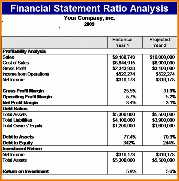 11 financial statement analysis example | Financial Statement Form