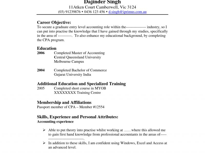 Cool Ideas Accounting Resume Objective 5 - Resume Example