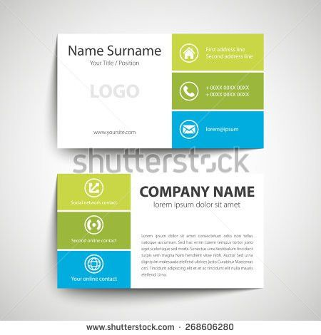 Vector Modern Clean Business Card Name Stock Vector 659167573 ...